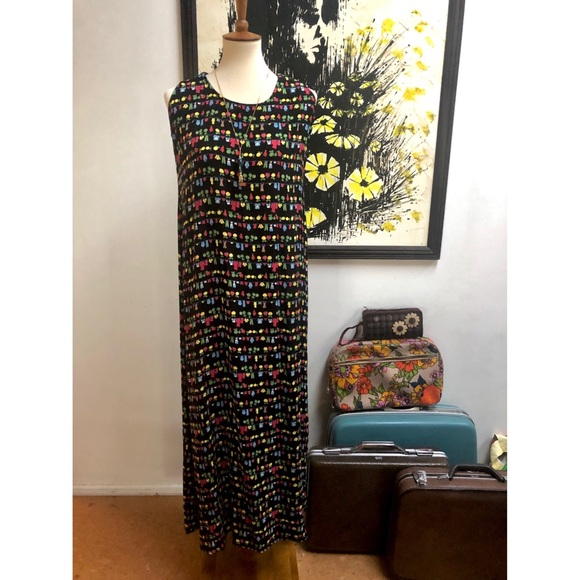 Vintage Dresses & Skirts - This print tho!!!!!! Vintage Jenny Helene Dress